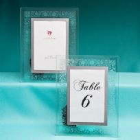 Etched Floral Design Photo Frame